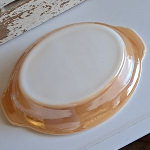 Vintage Fire King Lusterware Devided Dish